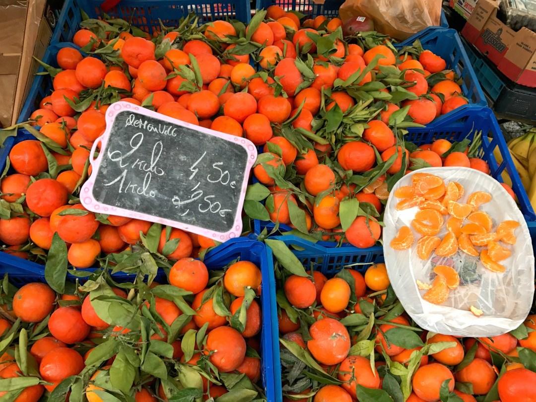 Frisk frugt Place Jourdan i Bruxelles