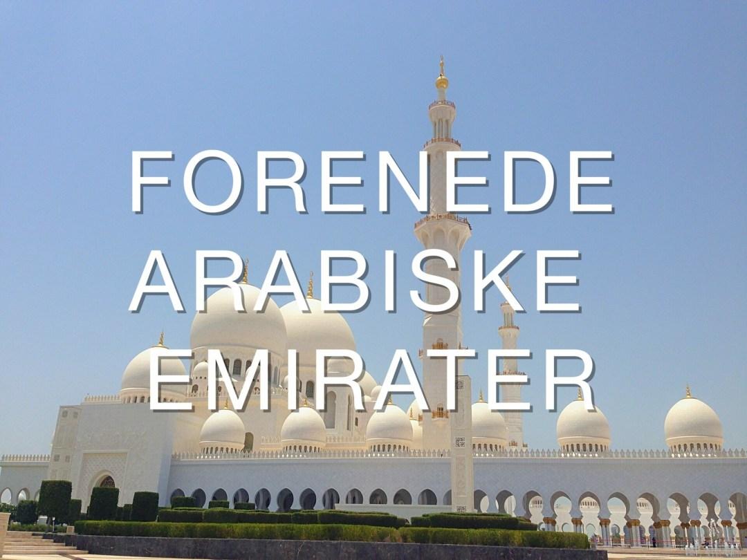 Rejseblog Forenede Arabiske Emirater