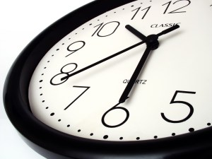 A picture of a clock face