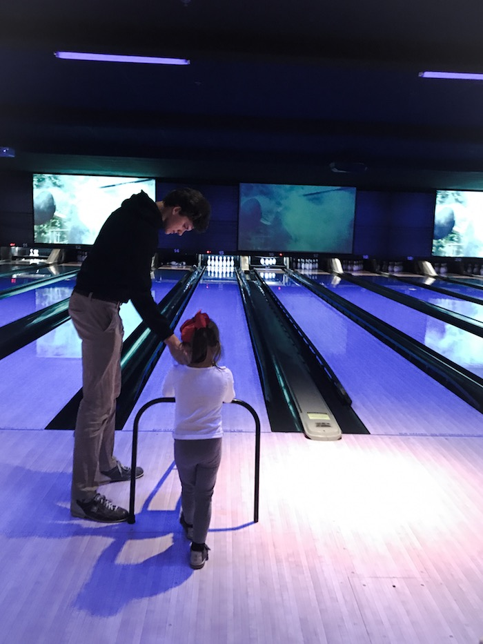 Family bowling night in Atlanta