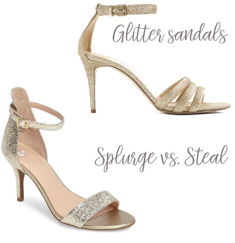 Glitter sandal trend