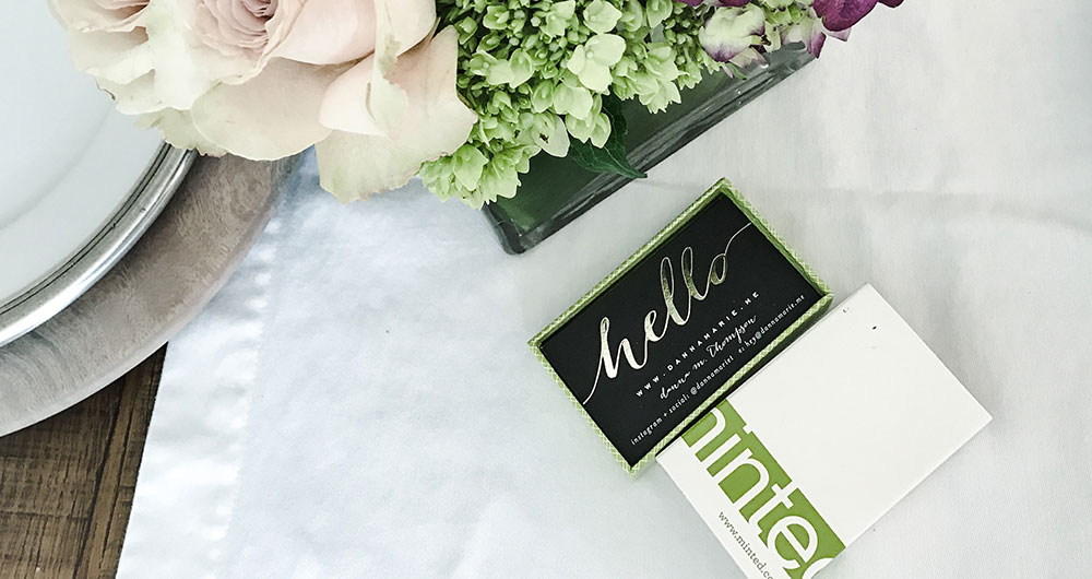 Minted gold detail business cards