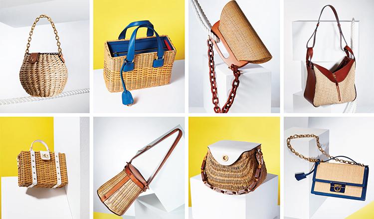 woven basket weave bag