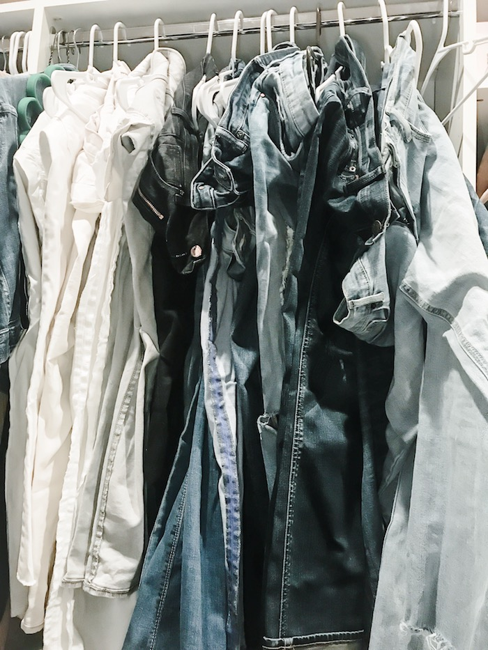 organize denim for closet organization