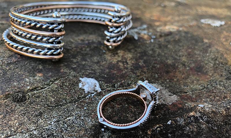 mixed metal wedding ring