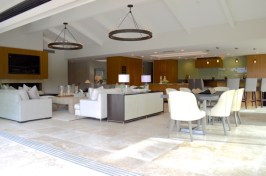 Contemporary Living Room and Outdoor LIving Area