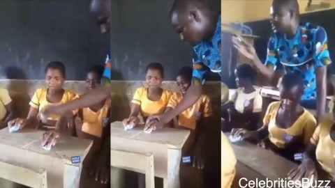 A Ghanaian teacher have turn stone to a computer mouse to teach in class .  Watch the video