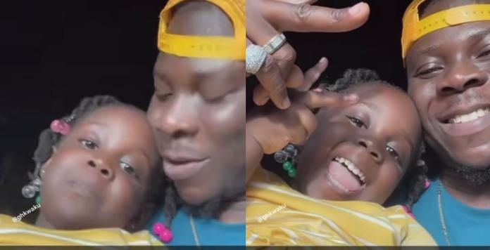 Jidula Gives Her Father, Stonebwoy Tough Time As She Insists On Spending The Day With Him