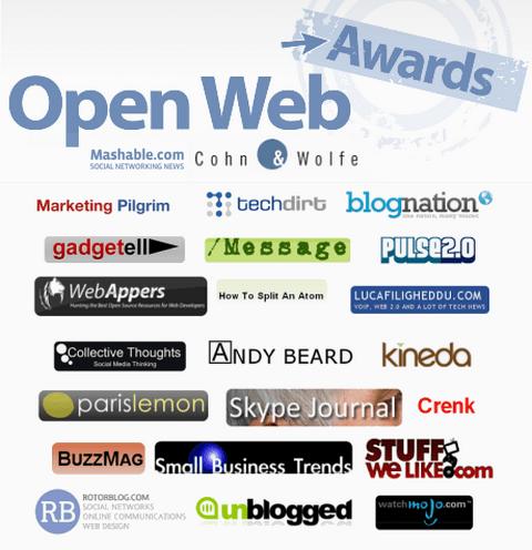 The Mashable Open Web Awards 2008