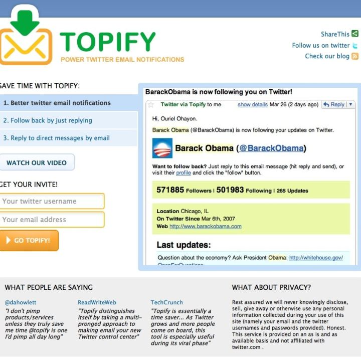 Better Twitter (and ROI) with Topify, Seesmic Desktop and bit.ly