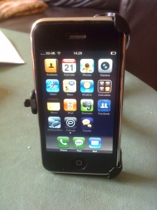 iPhone In Holder
