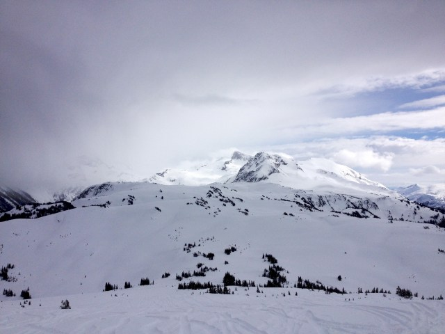 View over Musical Bumps with Fissile and Overlord peaks in the background