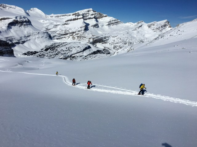 On the glacier, on our way up to Little Crowfoot