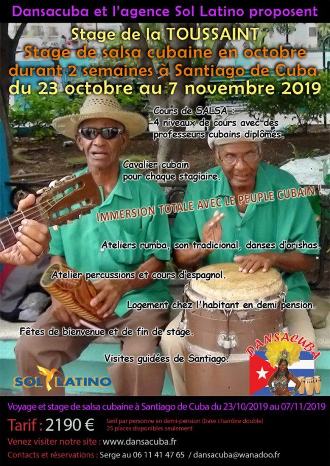 Stage Dansacuba Toussaint 2019