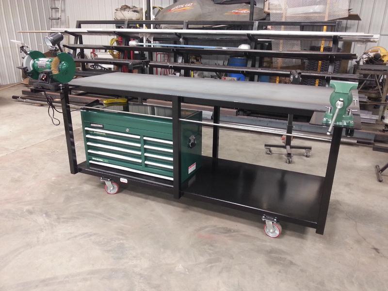 custom welding tables gibbon mn