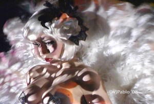 Model: Anabel Miramontes - Body Projection Mapping: Paul Ackerman