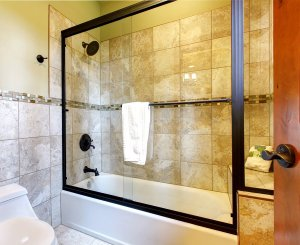shower tub glass enclosure