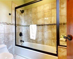 shower tub glass enclosure