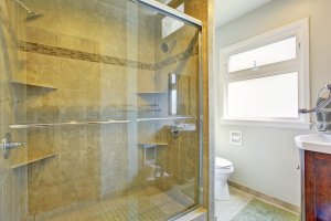 installing a glass shower door