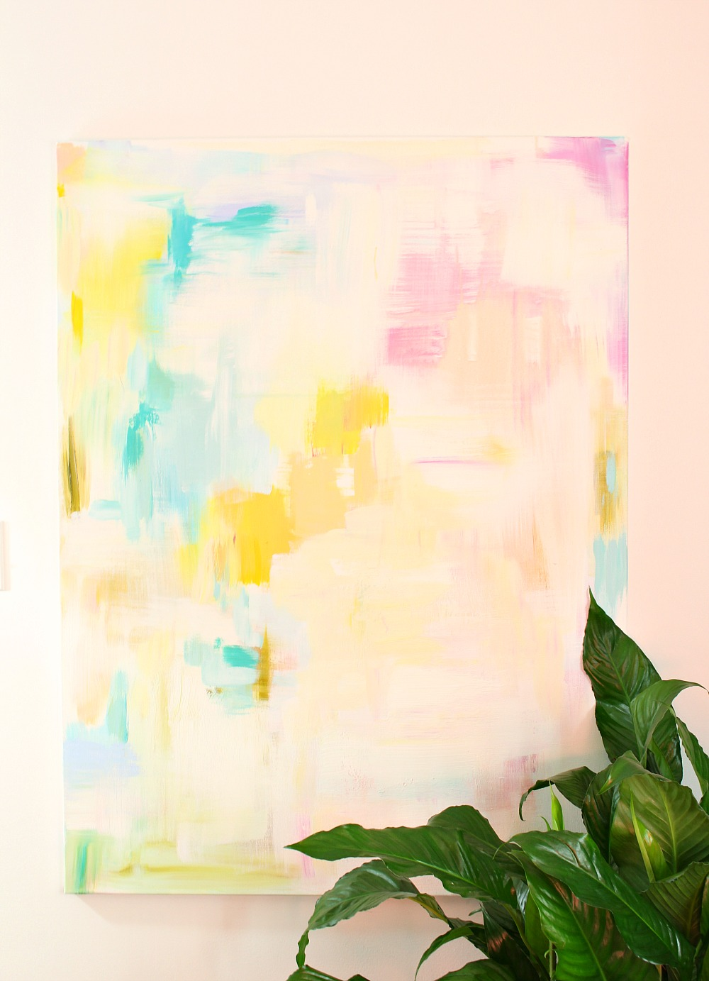 DIY Abstract Art Tutorial | See My DIY in a Magazine (Again)