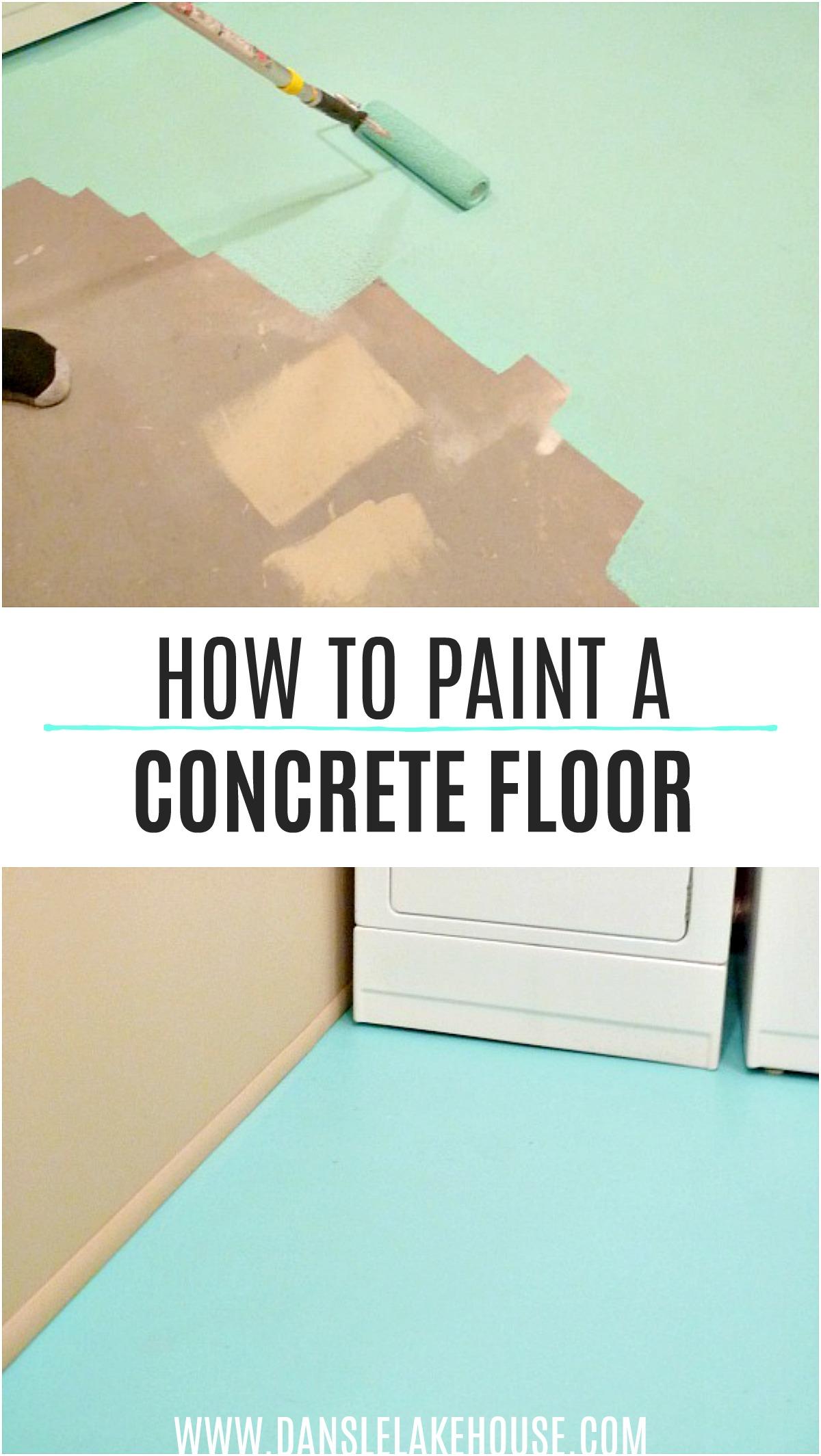 How to Paint a Concrete Floor