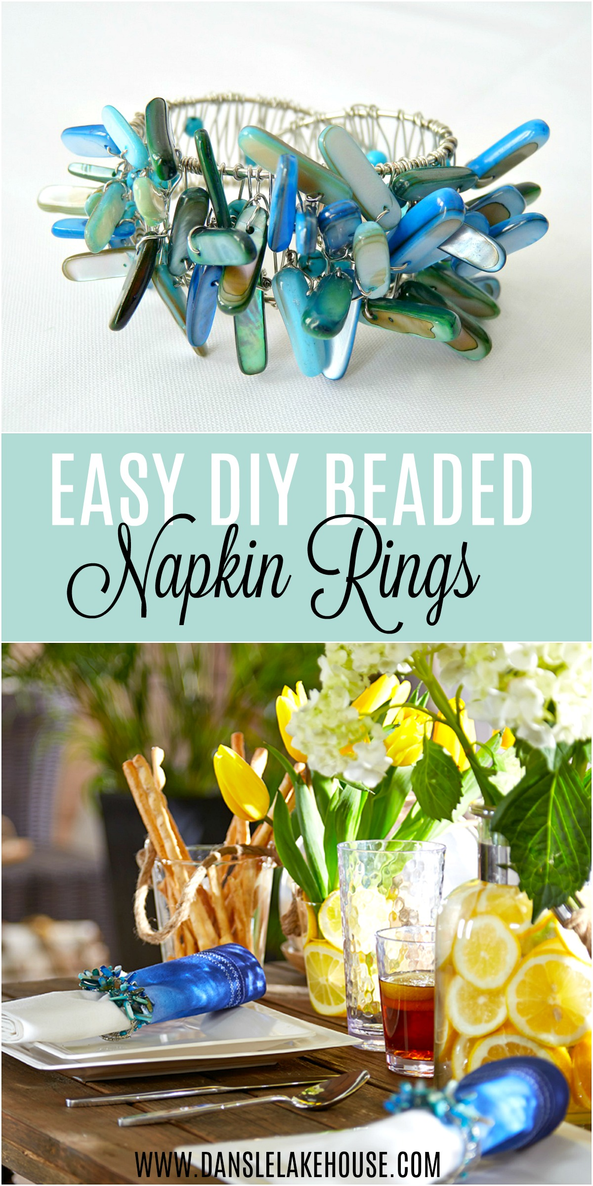 DIY Beaded Napkin Ring - Easy Tutorial + Video