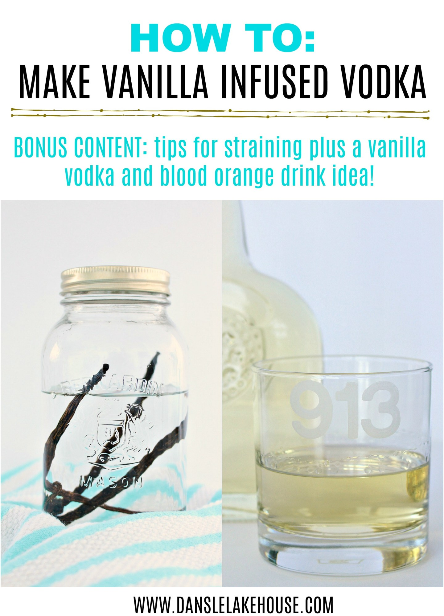 How to Make Vanilla Infused Vodka! Learn How Easy it is to Make DIY Infused Vodka - Tips and Tricks, Plus a Great Drink Idea Too. #infusedvodka #drinkideas #drinkrecipes #vanillavodka