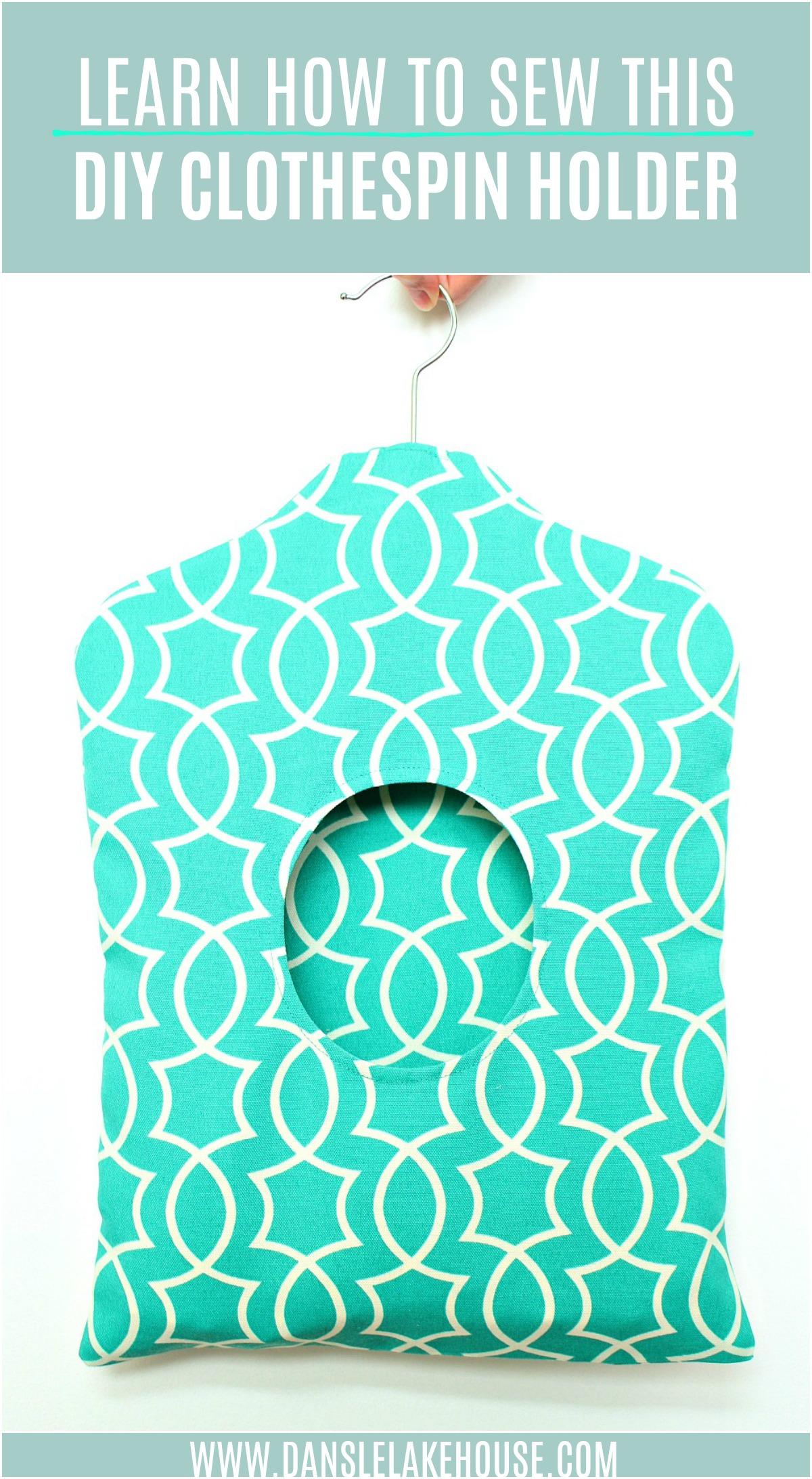 fabric DIY clothespin holder tutorial