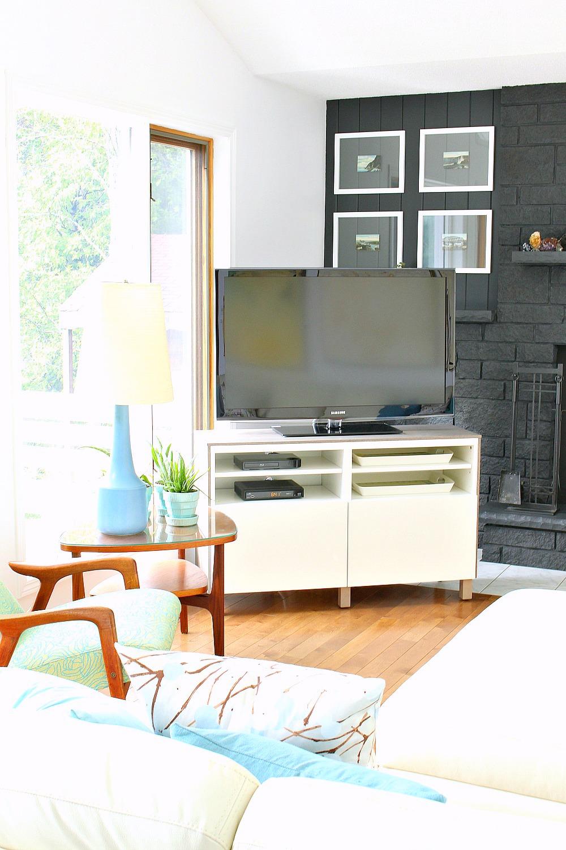 Ikea Besta Hack 20 DIY Besta TV Stand With Wood Top
