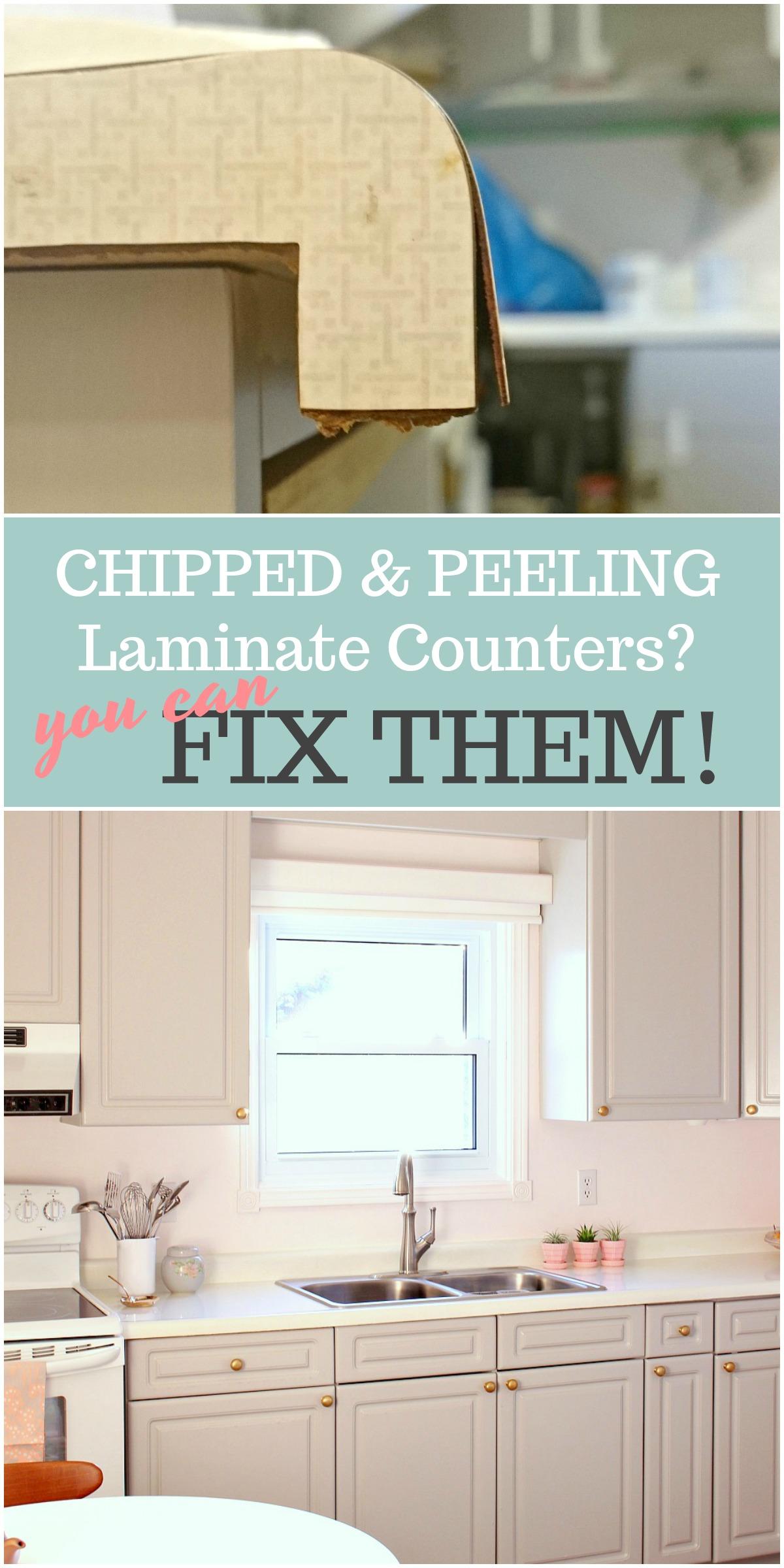 how to repair laminate counters