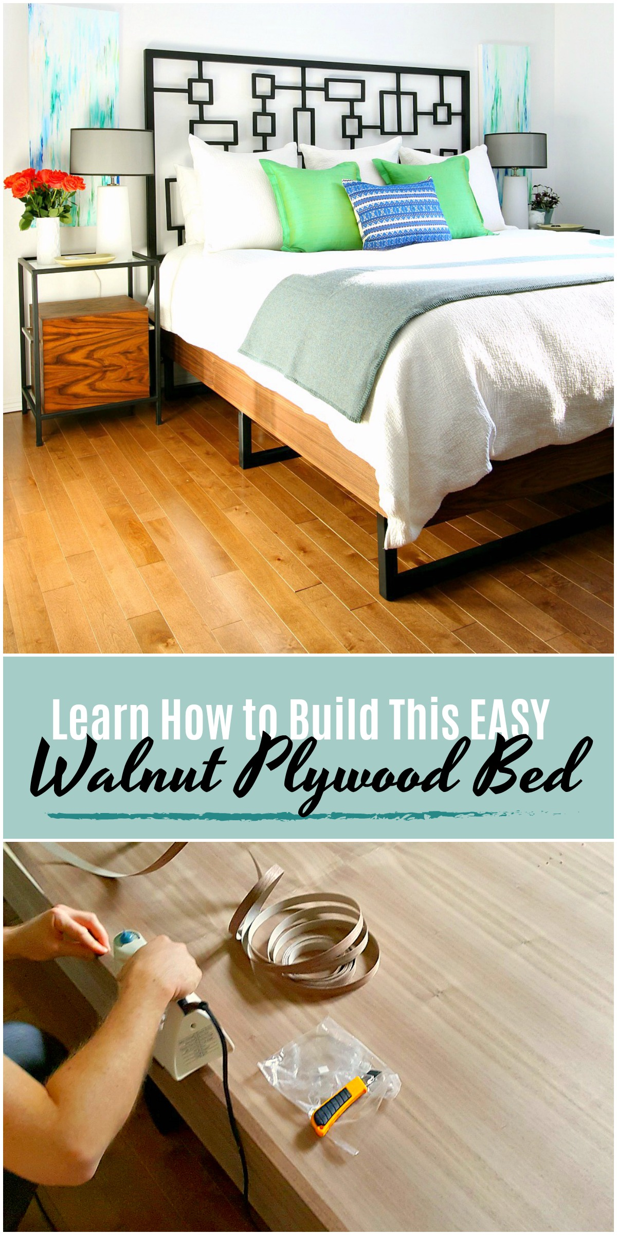 how to make a plywood bed