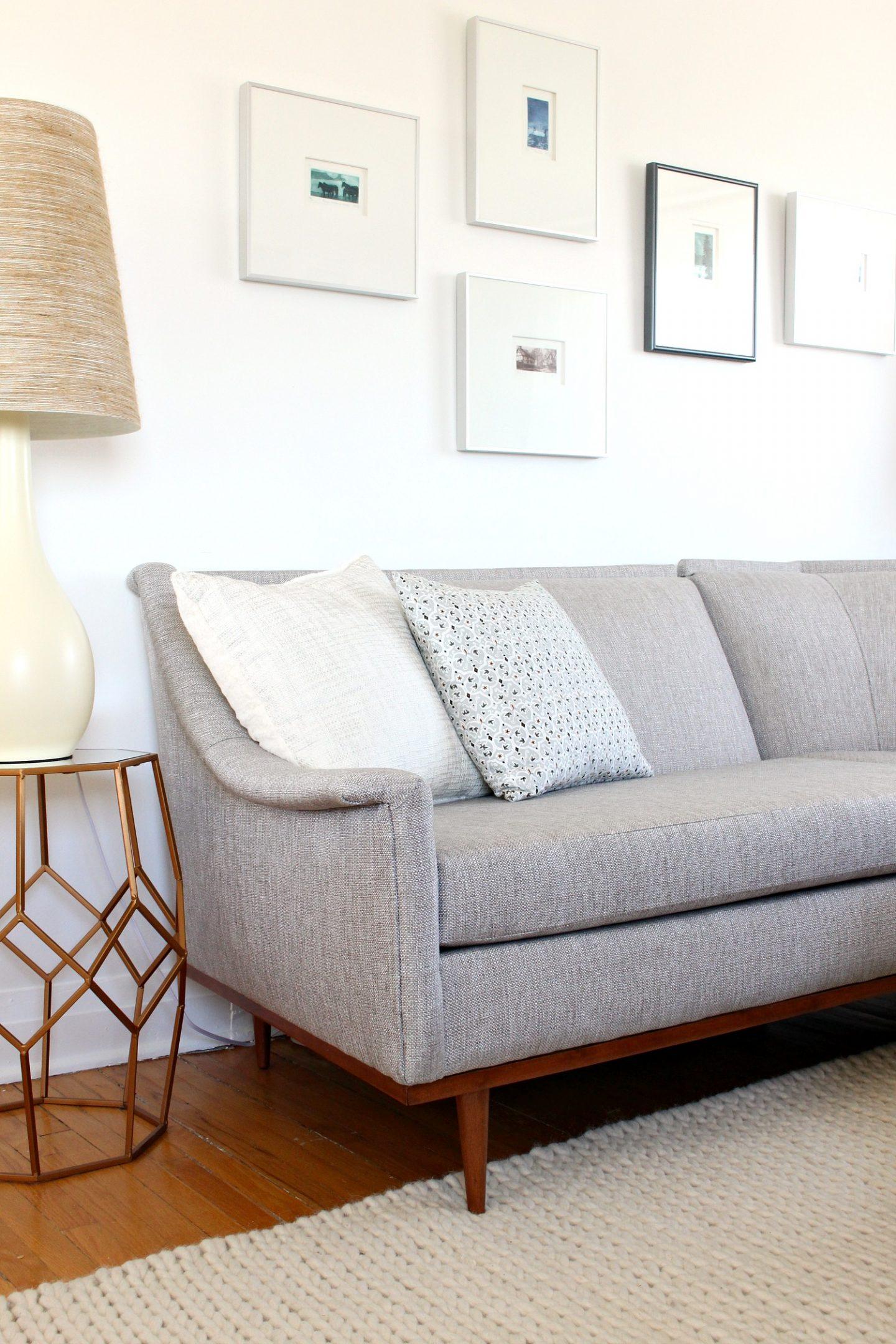 mid century modern sectional sofa