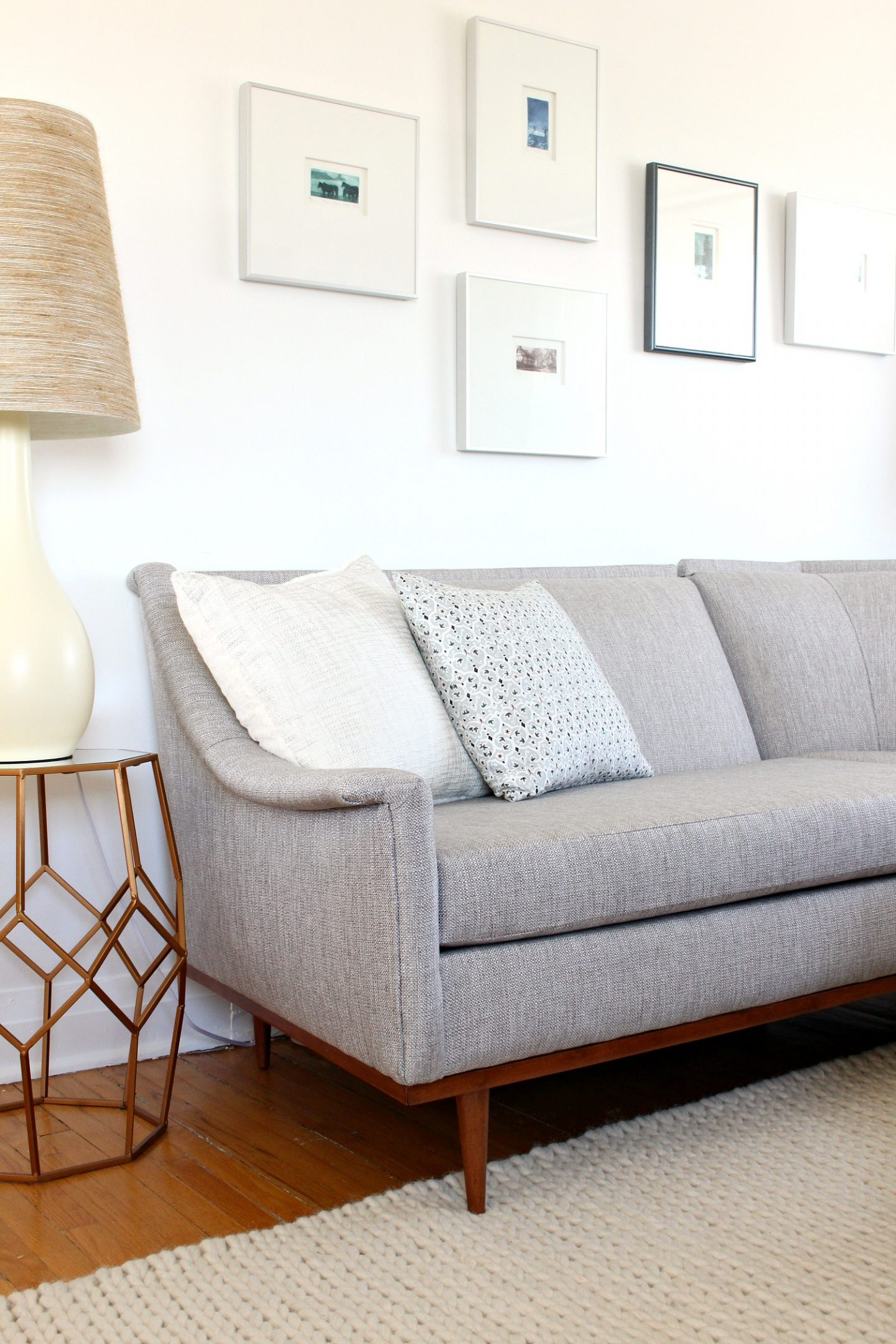 Mid Century Modern Sectional Sofa Makeover Before And