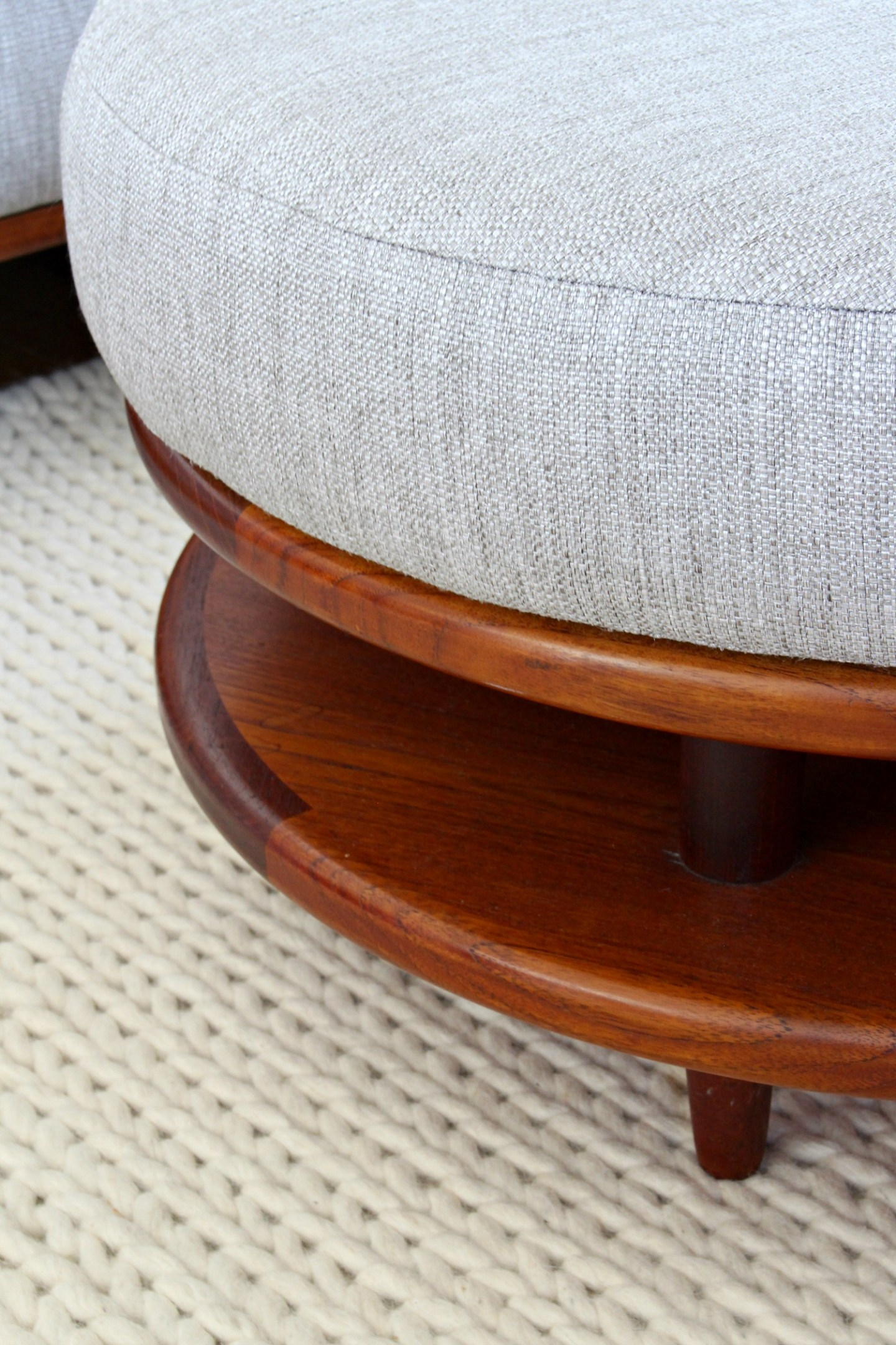 Mid-Century Modern Sectional Sofa Makeover | Coffee to Ottoman Hack