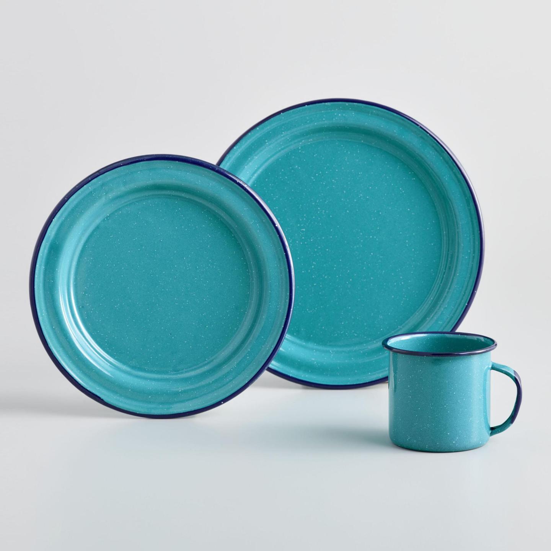 Turquoise Enamel Ware