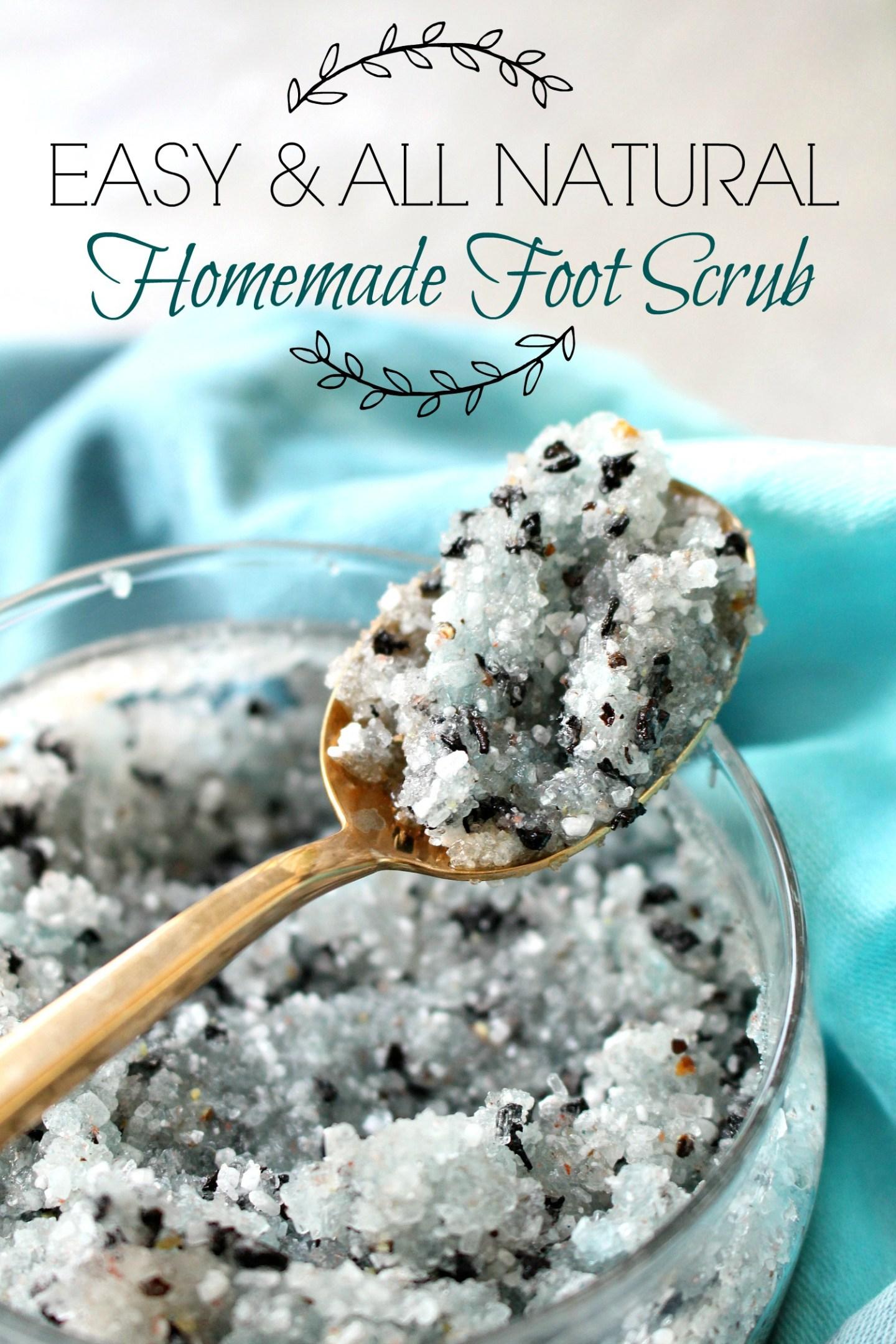 DIY All Natural Foot Scrub
