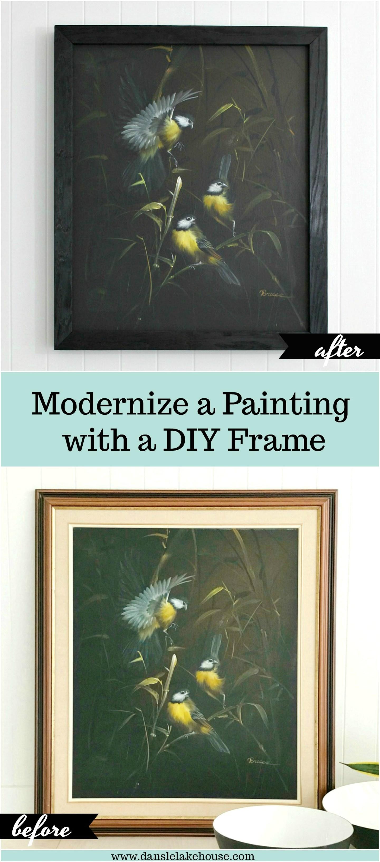 wood burned frame