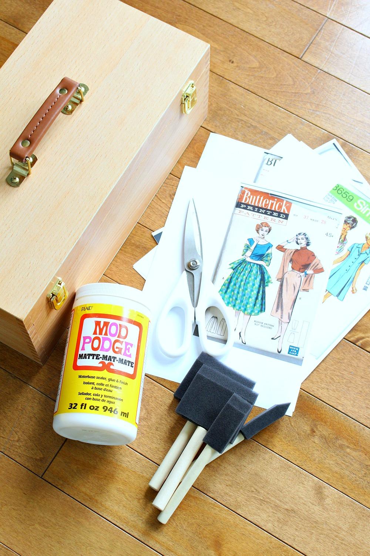 DIY Sewing Box Decoupage