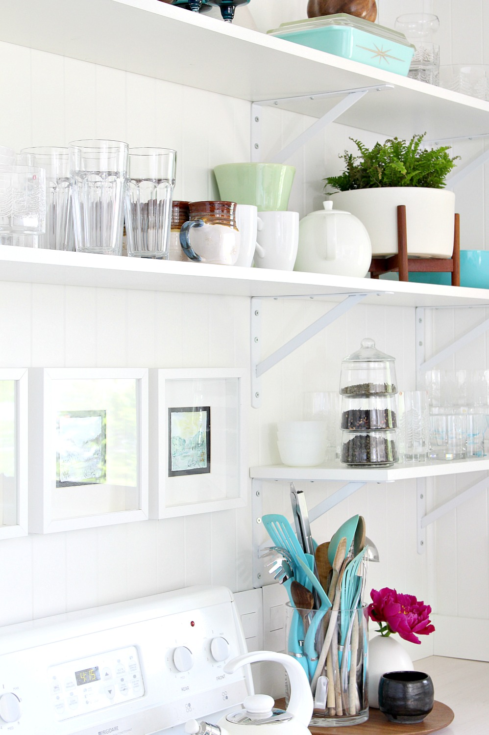 Eclectic Kitchen Open Shelving