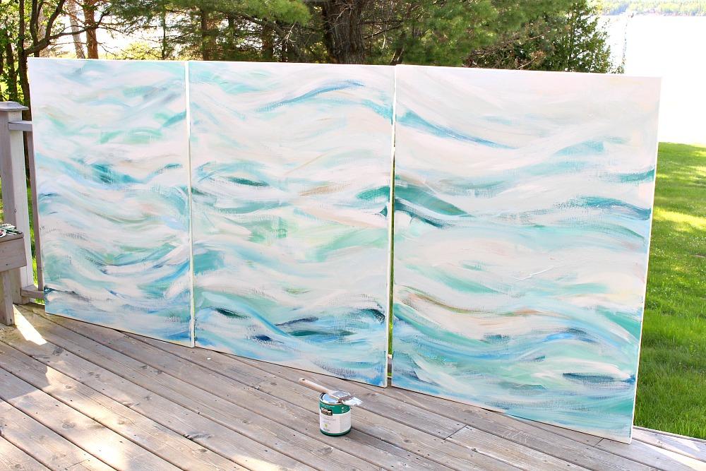 How to Create Modern Coastal Art