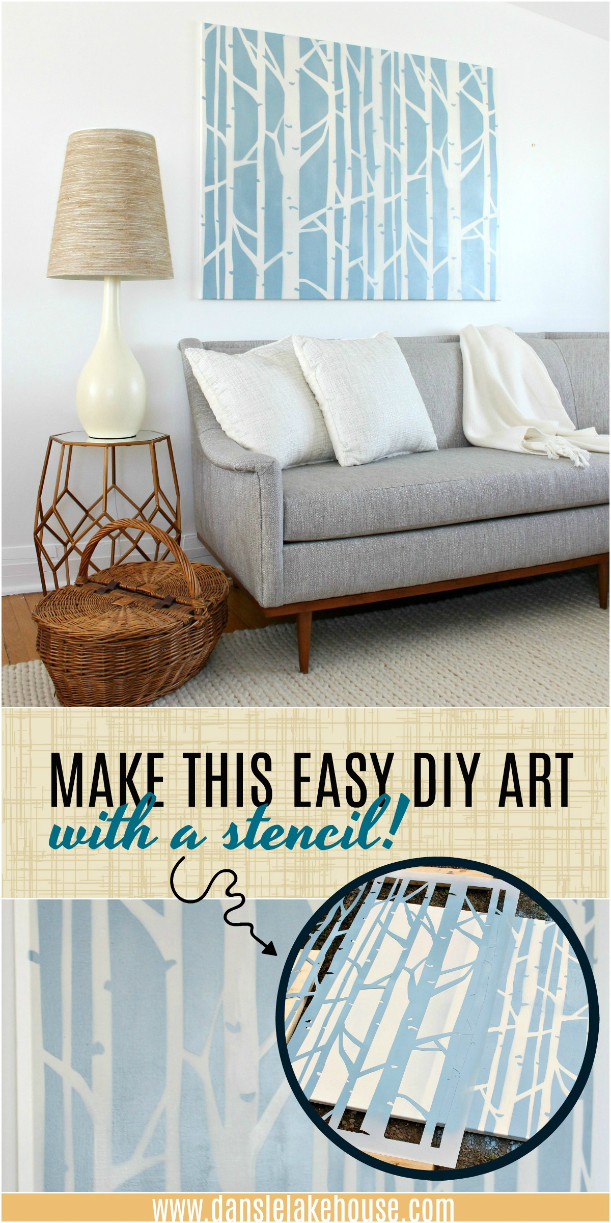 DIY Stenciled Art