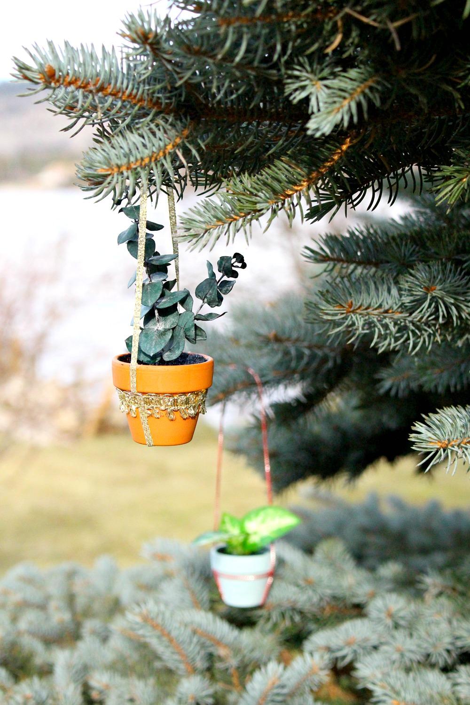 DIY Mini Potted Plant Ornament