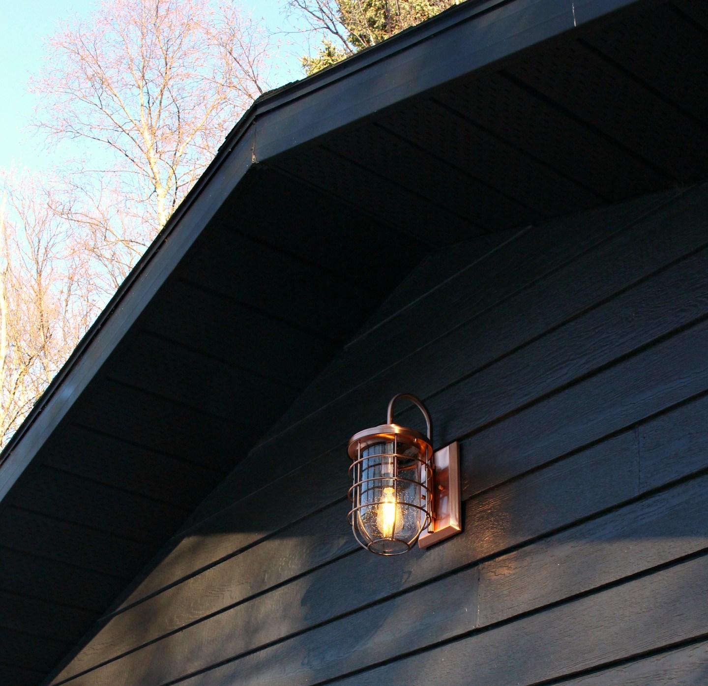 New Copper Outdoor Lights   Garage Makeover Before & After