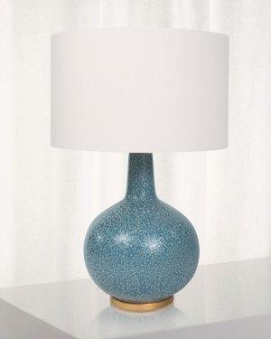 BLUE SPECKLED LAMP