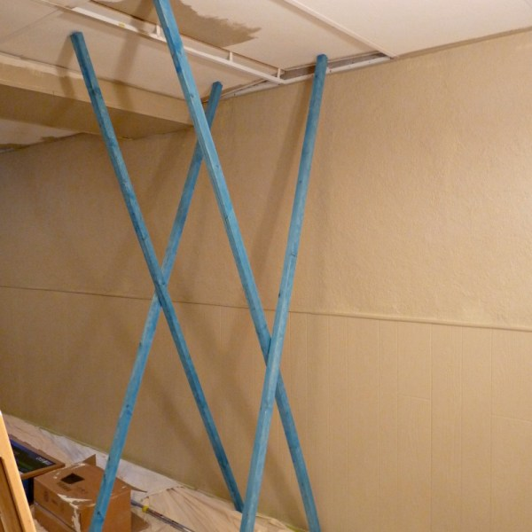 HOW TO PAINT DROP CEILING YOU CAN'T REMOVE