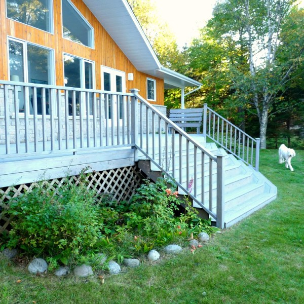 GREY STAINED DECK