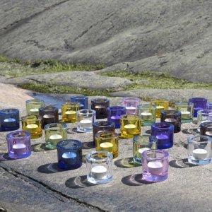 IITTALA BLOWN GLASS CANDLE HOLDER