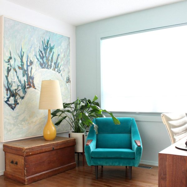 How to frame large canvas art