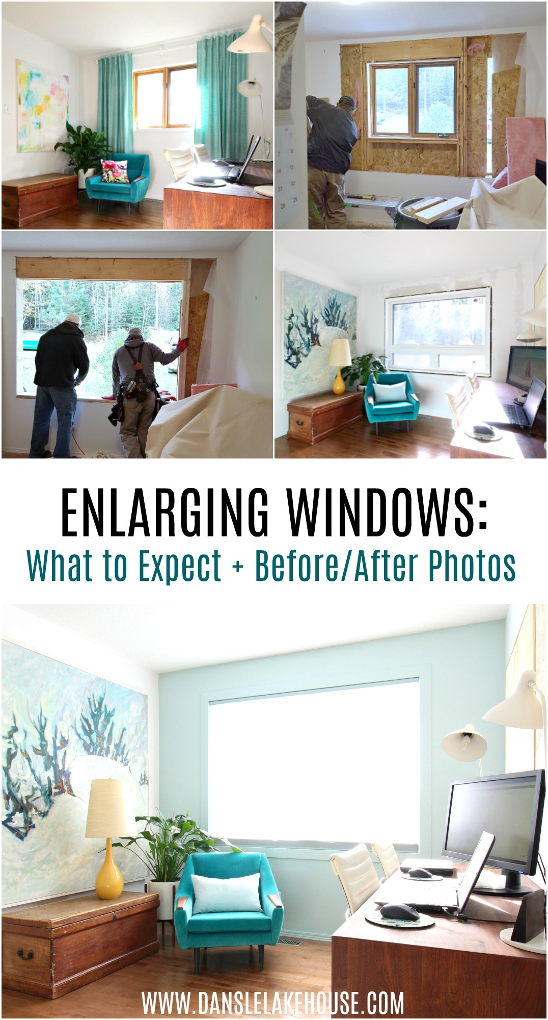 Getting Bigger Wundows Installed: The Process, What to Expect, Plus Before and After Photos #homerenovations #windowrenovation #homeimprovement