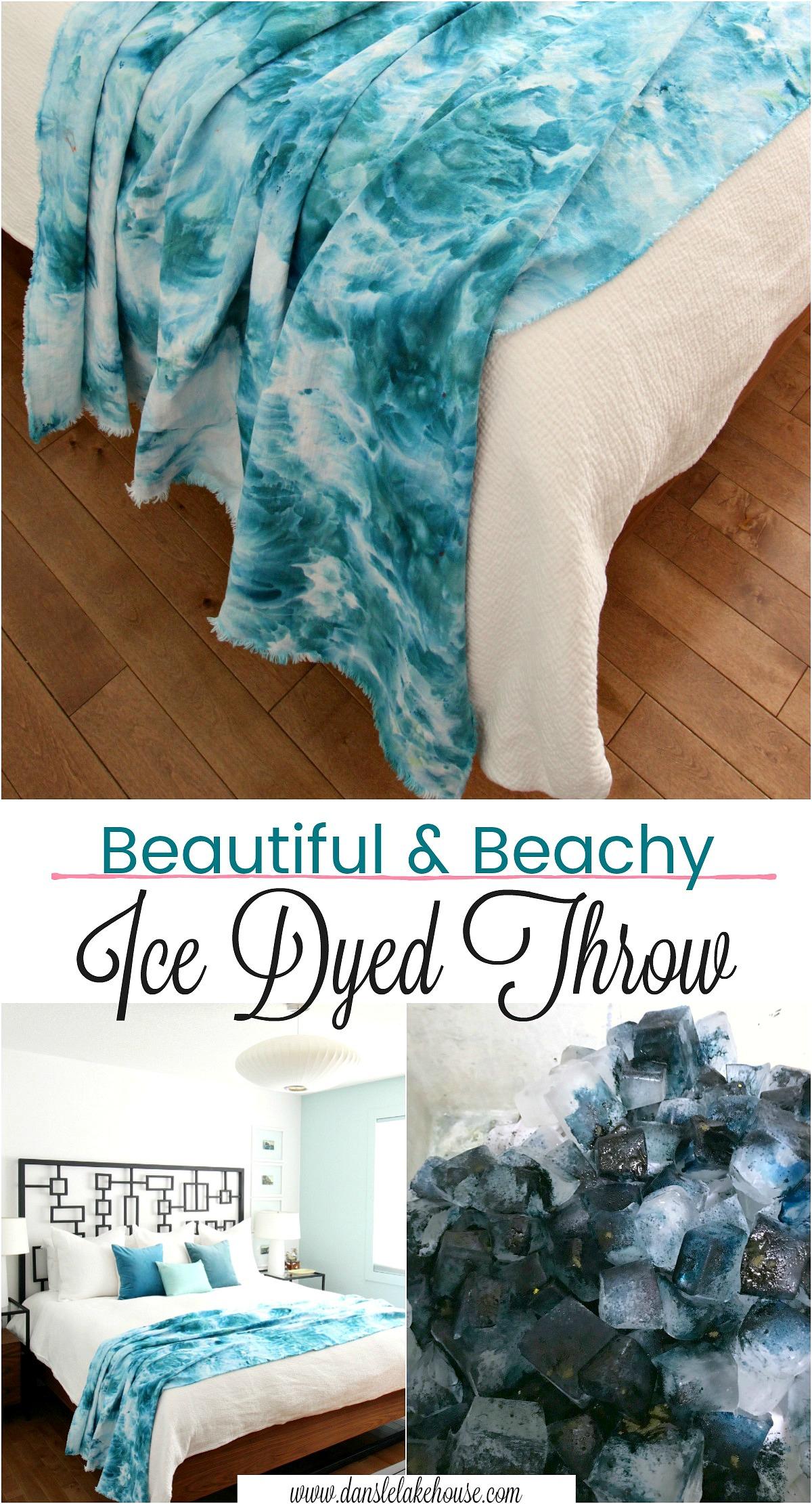 DIY Ice Dye Throw Blanket | How to Ice Dye